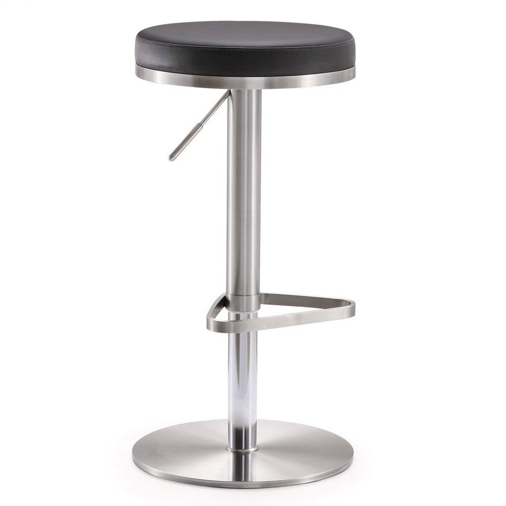 Fano Black Stainless Steel Adjustable Barstool