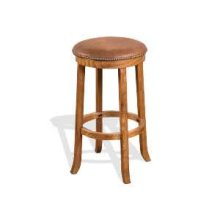 "30""H Sedona Swivel Stool w/ Cushion Seat (16.5"" Rnd)"