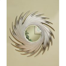 Transitional Antique Silver Mirror
