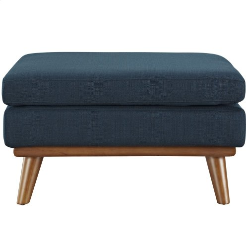 Engage Upholstered Fabric Ottoman in Azure