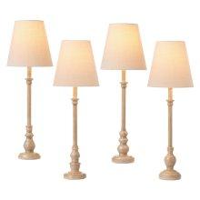 Antique Taupe Buffet Lamp (4 asstd). 40W Max.