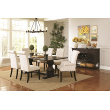 Parkins Traditional Rustic Espresso and White Five-piece Dining Set