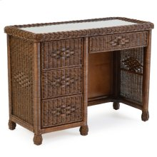 Wicker 4 Drawer Desk Coffee Bean 3797