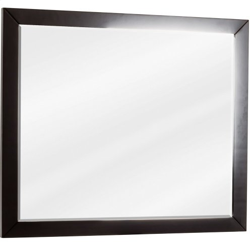 """33"""" x 28"""" Black mirror with beveled glass"""