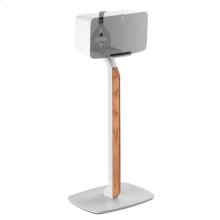 White- Sophisticated and secure floor stand.