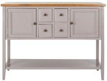 Charlotte Storage Sideboard - Quartz Grey / Oak