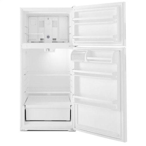 28-inch Wide Top-Freezer Refrigerator with Dairy Center - 14 cu. ft. - black