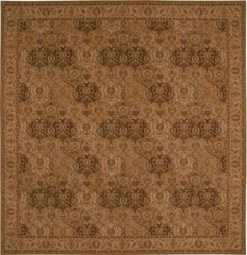 Hard To Find Sizes Grand Parterre Pt04 Gold Rectangle Rug 12' X 12'6''