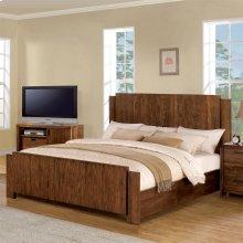 Terra Vista - Queen/king Panel Bed Rails - Casual Walnut Finish