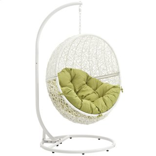 Hide Outdoor Patio Swing Chair With Stand in White Peridot