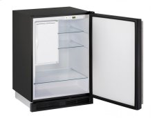 "1000 Series 24"" Refrigerator/freezer With Black Solid Finish and Field Reversible Door Swing (115 Volts / 60 Hz)"