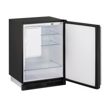 """1000 Series 24"""" Refrigerator/freezer With Black Solid Finish and Field Reversible Door Swing (115 Volts / 60 Hz)"""