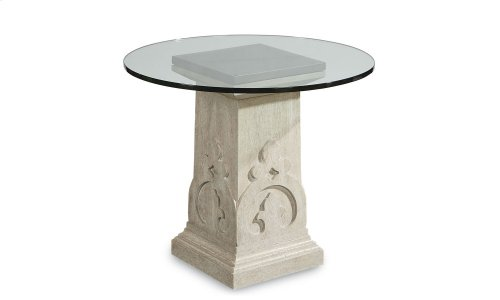 """Arch Salvage Keyes Martini Table with 36"""" Glass"""
