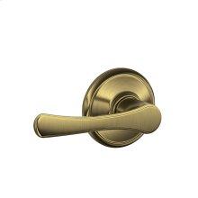 Avila Lever Hall & Closet Lock - Antique Brass