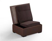 JumpSeat Ottoman, Hazelnut Cover / Root Beer Seat