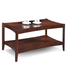 Chocolate Cherry Hourglass Condo/Apartment Coffee Table & Two End Tables - Three pack #10120-CH