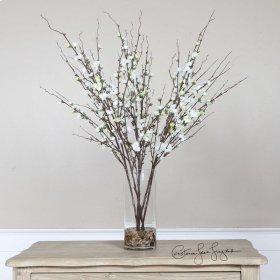 Quince Blossoms, Silk Centerpiece