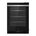 "24"" NOIR Under Counter Glass Door Refrigerator, Right Swing"