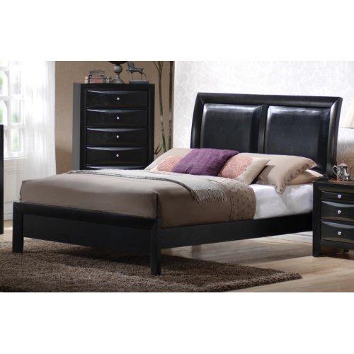 Briana Black Transitional King Bed