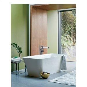 Darby Floor-mount Tub Filler with Handshower - Polished Chrome