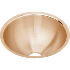 """Elkay CuVerro Antimicrobial Copper 11-3/8"""" x 11-3/8"""" x 4-3/4"""", Single Bowl Undermount Bathroom Sink"""