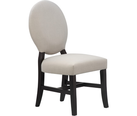 Juliette Upholstered Chair Black With Stone Upholstery *Complements Coal/Black  (#75 Finish