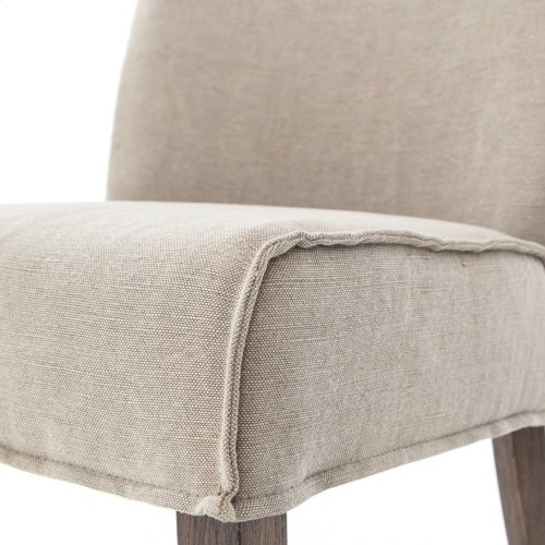 Aria Dining Chair-heather Twill Stone