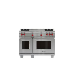 """WOLF48"""" Dual Fuel Range - 4 Burners and French Top"""