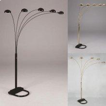 "Peacock Shade Floor Lamp Bk 82""h"
