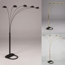 "Peacock Shade Floor Lamp Bk 82""h"