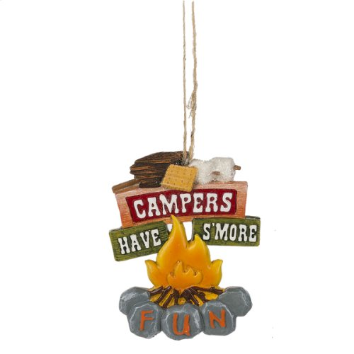 """""""Campers Have S'more Fun"""" Campfire Ornament."""