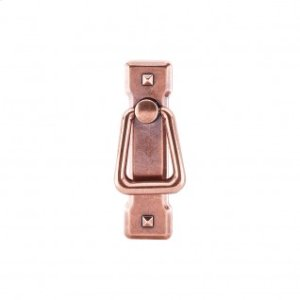 Mission Ring Pull & Backplate 2 1/4 Inch (c-c) - Old English Copper