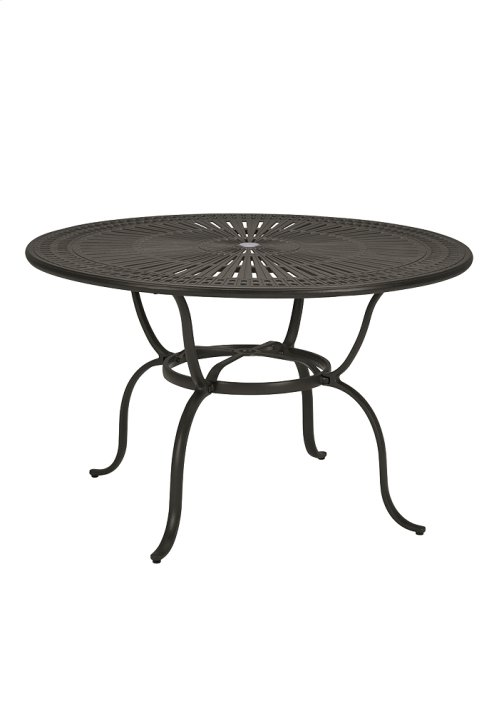 "Spectrum 49"" Round KD Counter Umbrella Table"