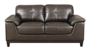 Loveseat Walnut Brown Pu