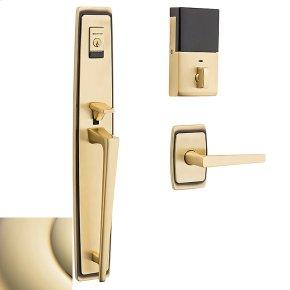 Lifetime Polished Brass Evolved Palm Springs Full Escutcheon Handleset