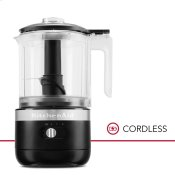 Cordless 5 Cup Food Chopper - Black Matte