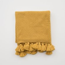 Carlisle Tassel Throw - Mustard