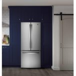 GE ®energy Star® 20.8 Cu. Ft. French-Door Refrigerator