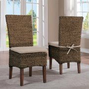 Mix-n-match Chairs - Woven Side Chair - Hazelnut Finish Product Image