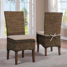 Mix-n-match Chairs - Woven Side Chair - Hazelnut Finish