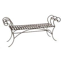 Waterbury Iron Bench (No Back) 63 inch