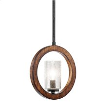 Grand Bank Collection 1 Light Pendalette  Auburn Stained Finish