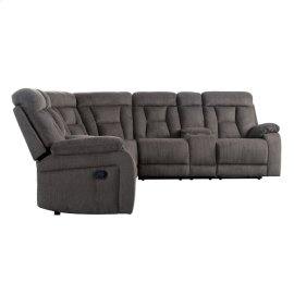 3-Piece Reclining Sectional with 2 Consoles