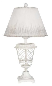 White Basket Table Lamp