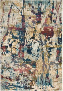 Fusion Fss10 Cream/multi Rectangle Rug 5'3'' X 7'3''