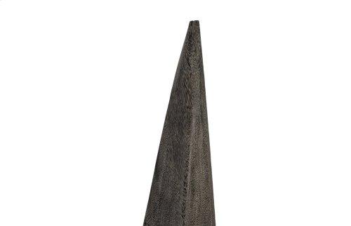 Shark Tooth Sculpture , Grey Stone, LG