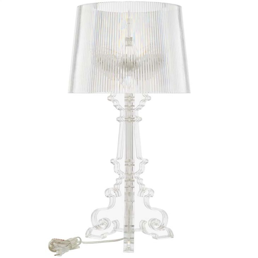 French Grande Table Lamp in Clear