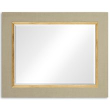 "Blanc & Gold ""Homespun"" Mirror"