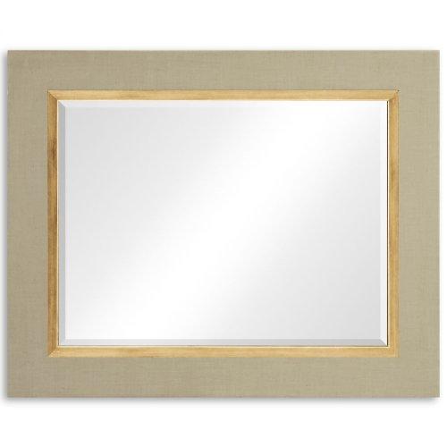 """Blanc & Gold """"Homespun"""" Mirror"""