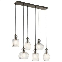 Riviera Collection Riviera 6 Light Linear Chandelier OZ